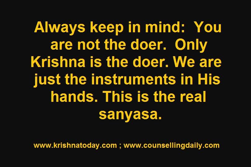 Real Sanyasa (Renunciation)